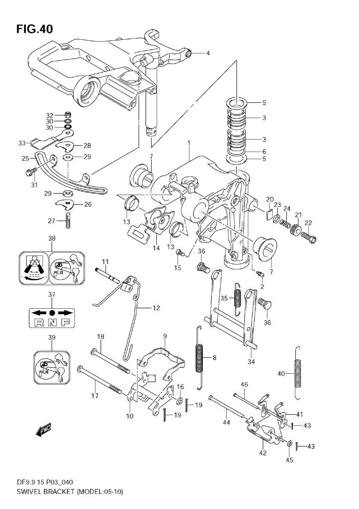 2010 Suzuki Df15 K10 Parts