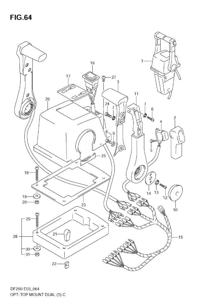2005 Suzuki Df250 K5 Parts