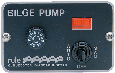 Marine Deluxe Panel 3-Way Switch,12 Volt, 24 - Rule