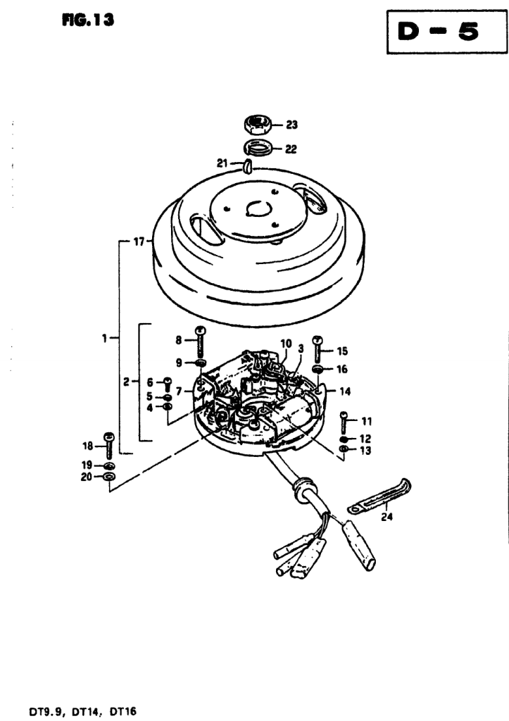 1978 Suzuki Dt25 C Parts