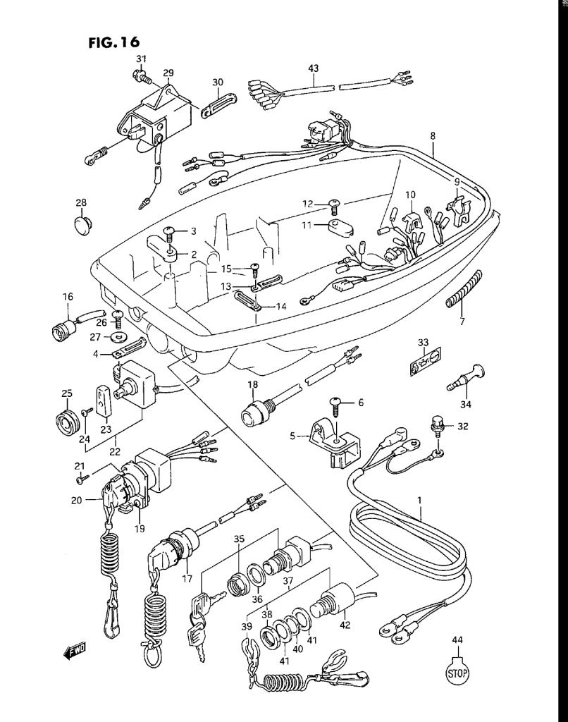 Suzuki Dt25 Wiring Diagram Wiring Diagrams Schematic Suzuki DT25 Parts  Suzuki Dt25 Wiring Diagram
