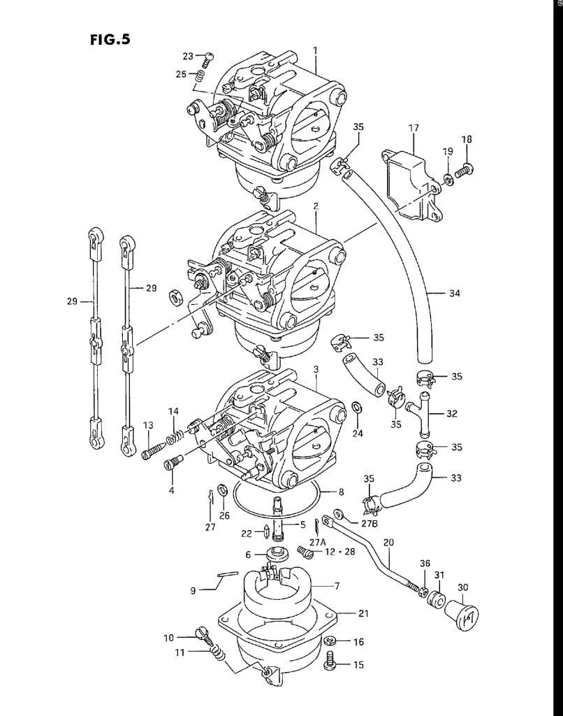 Components - 1993 Suzuki DT30 P. Carburetor