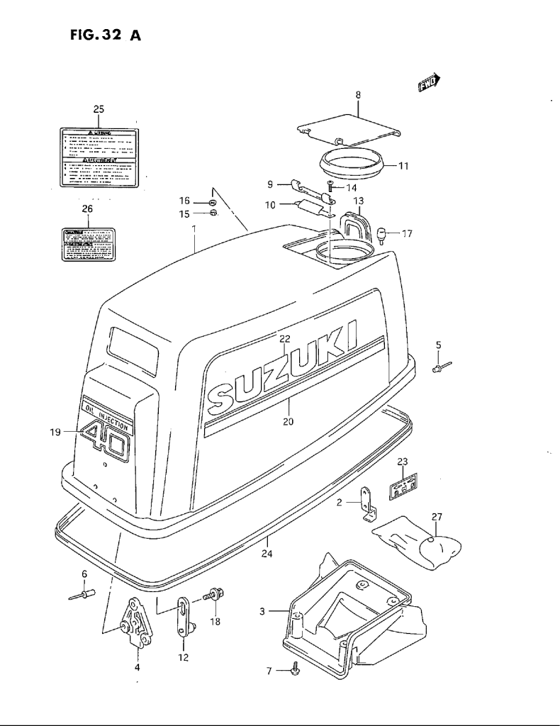 Diagram Of 1983 Dt40 Suzuki Marine Outboard Transmission Diagram And