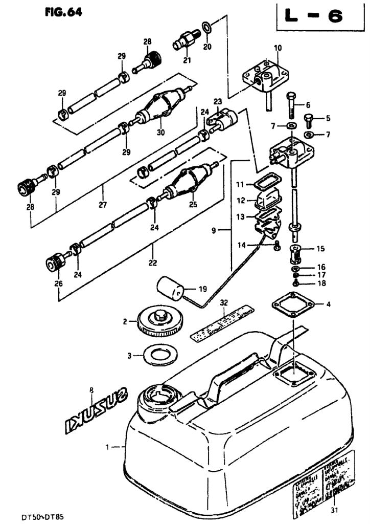 1979 Suzuki Dt85 N Parts