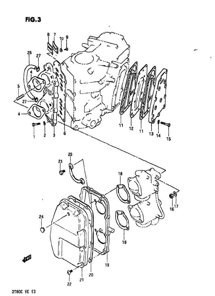 1984 Suzuki Dt60 E Parts