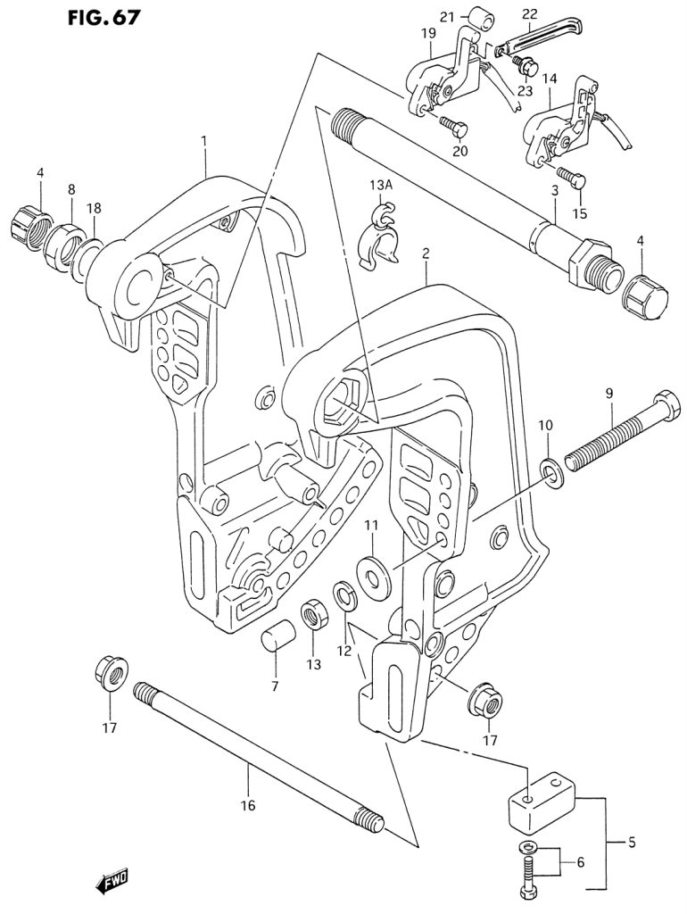 1993 Suzuki Dt200 P Parts Dt 200 Outboard Wiring Diagram Clamp Bracket