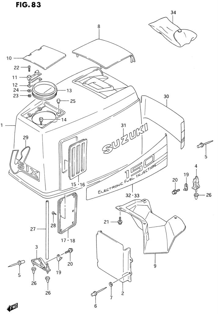 1996 Suzuki Dt150 T Parts