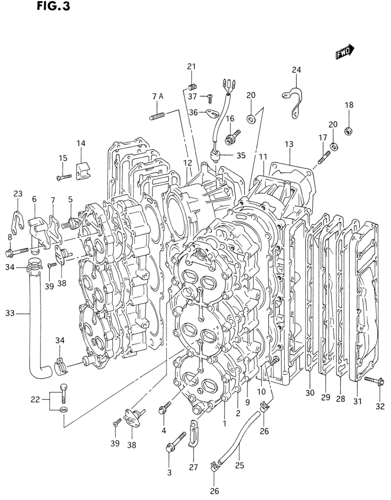 1993 Suzuki Dt200 P Parts Dt 200 Outboard Wiring Diagram Cylinder Head
