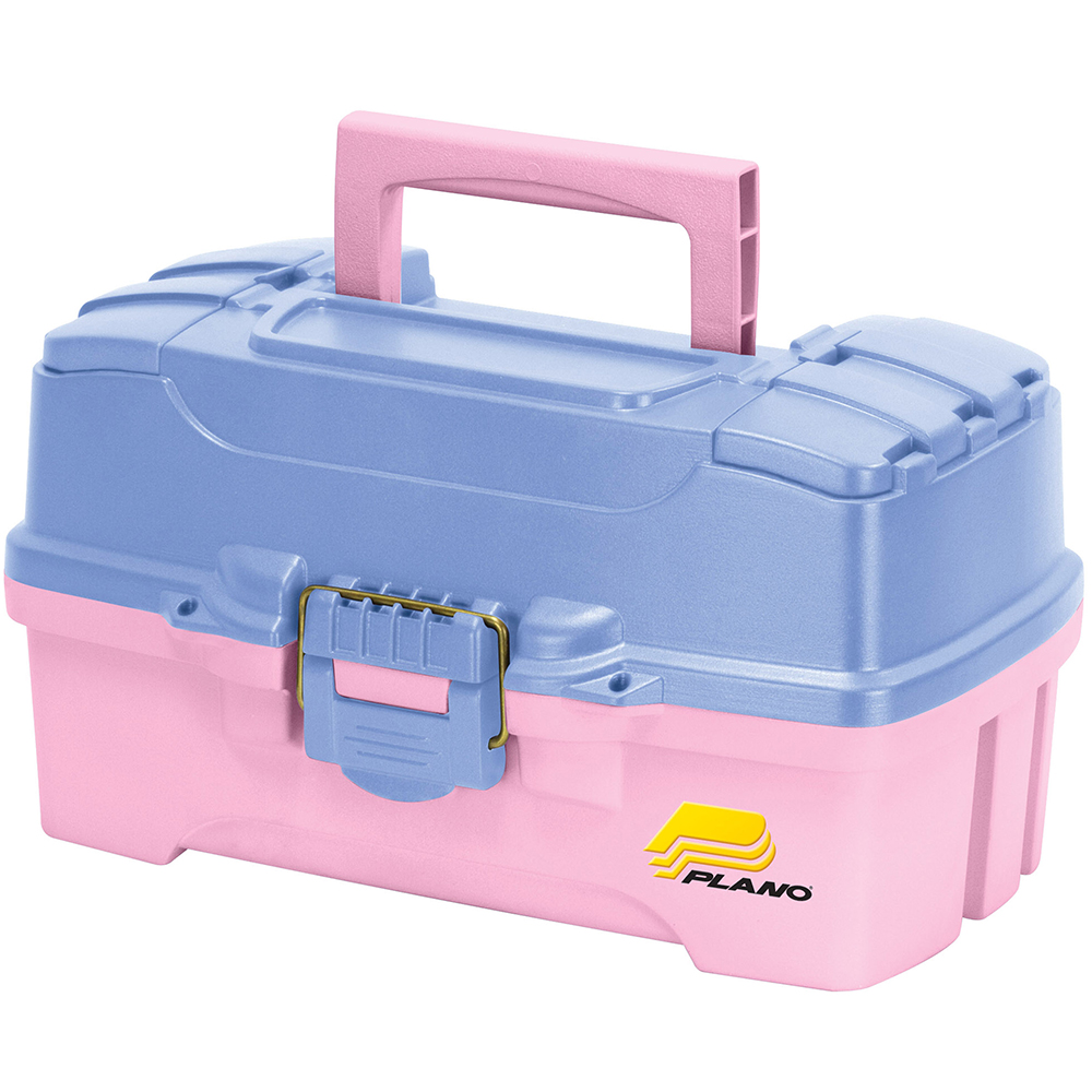 Plano Two-Tray Tackle Box w/Dual Top Access – Periwinkle/Pink