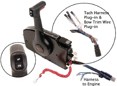 Mercury Side Mount Remote Control, 8 Pin Traditional w/ 20' Harness -  Quicksilver | iBoats