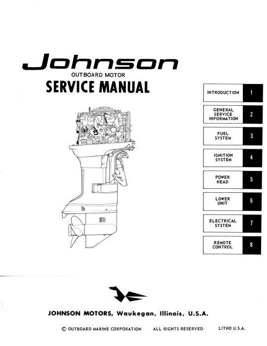 Ken Cook Co. 1967 Johnson Outboard Service Manual 313423 | iBoatsiBoats