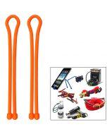 Nite Ize Gear Tie 18 - Bright Orange 2 Pack