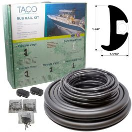 Taco Marine 1 7 8 Quot X1 1 16 Quot X50 Black Flexible Vinyl Rub