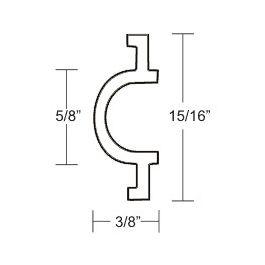 Taco Marine Flexible Vinyl Rub Rail Insert, 15/16