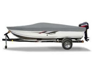 2003 High Tide V-1602 Standard W/ Side Console W/ Windshield Custom Fit™ Custom Boat Cover by Carver®