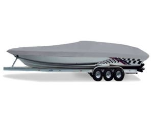 """Carver® Styled-to-Fit™ Semi-Custom Boat Cover - Fits 25' Centerline x 96"""" Beam Width"""