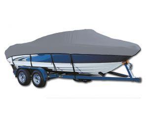 1995-1996 Key West Sportsman 1720 W/High Bow Rails Shield & Grab Rail O/B Exact Fit® Custom Boat Cover by Westland®