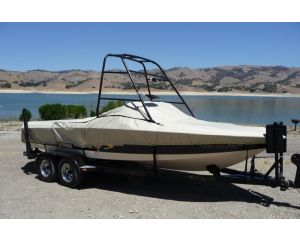 """Carver® Specialty Boat Cover For Ski or Wakeboard Towers - Fits 18'6"""" Centerline x 102"""" Beam Width"""