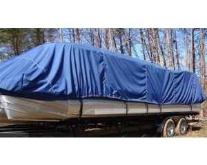Carver® Specialty Boat Cover - Fits Pontoons w/Rails that Partially Enclose Deck