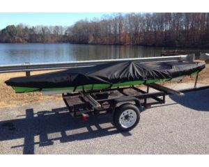 """Carver® Styled-to-Fit Fishing Style Kayak Cover - Fits 13'6"""" Centerline Length x 38"""" Beam Width"""