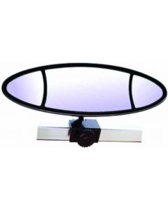 "Cipa Mirrors Ellipse 3-Lens 11-7/8 x 3-3/8"" Rear View Boat Mirror; Windshiled/Frame Mount"