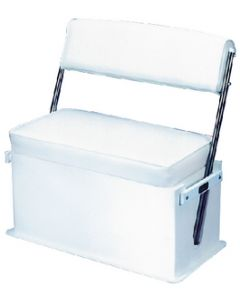 Todd Swingback Boat Seat With Stainless Steel Arms, White