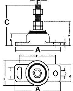 Barr Single Engine Mount 3/4in Bolt