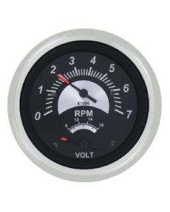 SeaStar Solutions Black Sterling Gas Engine Tachometer, 7000 RPM