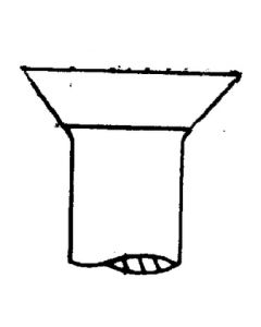 AP Products 8X1 1/2 Flat Scrulox 100/Bag - Flat Head
