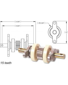 AP Products Std Gear Pk Assembly 15 Teeth - Gear Pack
