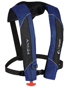 Onyx Adult Blue Type 5 Automatic Manual 24 Inflatable Life Jacket