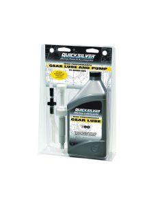 Quicksilver 90W Gear Lube Quart & Gear Lube Pump