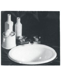 Bristol Products Ivory-White Abs Oval Sink - Plastic Oval Sink