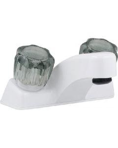 "Faucet-Lav 4 Utopia Wht/Smokd - Lavatory 4"" Faucet"