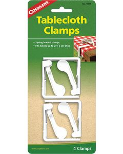 Coghlans Deluxe Tbl.Cloth Clamps (Pk4) - Plastic Tablecloth Clamps