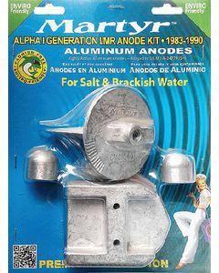 Martyr Anodes Mercury/Mercruiser Anode Kit, Aluminum, Alpha I Gen I