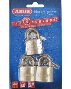 Abus Lock Padlock Brass 1-1/4 Key 3/Cd