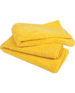 "Buffalo Microfiber Detail Towels 20"" x 20"", Yellow, 15/pk"