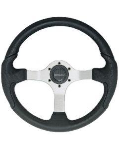 Uflex Steering Wheel Silver Blk Grip