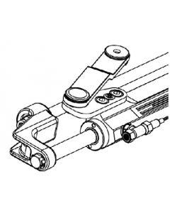 Uflex Silversteer Front Mount Hydraulic Steering Cylinder W/Offset Arm