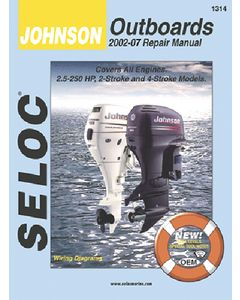 Seloc Johnson Evinrude Outboards 1.25-70HP 1990-2001 Repair Manual 1-4 Cylinder, 2 & 4 Stroke, All Inline Engines, Includes Fuel Injection & Jet Drives
