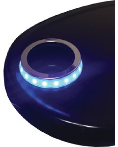 T-H Marine Supply, Led Cup Hold Accent Ring Blue, Recessed Cup Holders