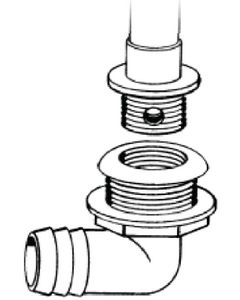 T-H Marine Supply Livewell Drain 1 1/8 In Low Th
