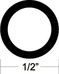 "Taco Marine 1/2"" Diameter Black Flexible Vinyl Rub Rail Insert 50' - Taco"