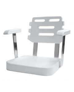Wise Ladder Back Helm Chair 562 Roto Molded Shell with Mounting Plate