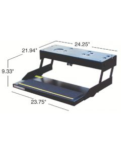 Single Kwikee/Lectro Step Blk - Automatic Electric Steps