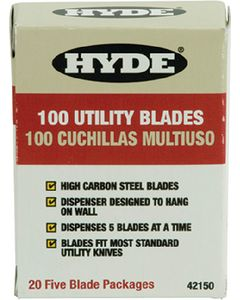 Hyde Tools HD UTILITY KNIFE BLADES 100/PK