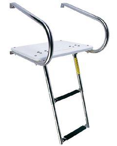 Garelick 2 Step I/O Transom Platform & Telescoping Boat Ladder Boat Swim Platforms