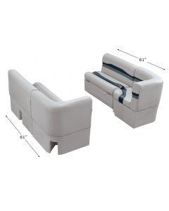 "Wise 3028 Talon Pontoon Seats 36"" Bench Seat & 25"" Corner Set"