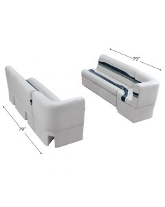 "Wise 3032 Talon Pontoon Seats 54"" Bench & 25"" Corner Set"